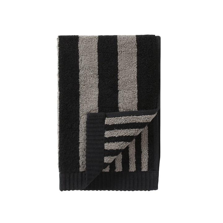 Marimekko - Kaksi Raitaa Guest Towel, grey / black, 30 x 50cm