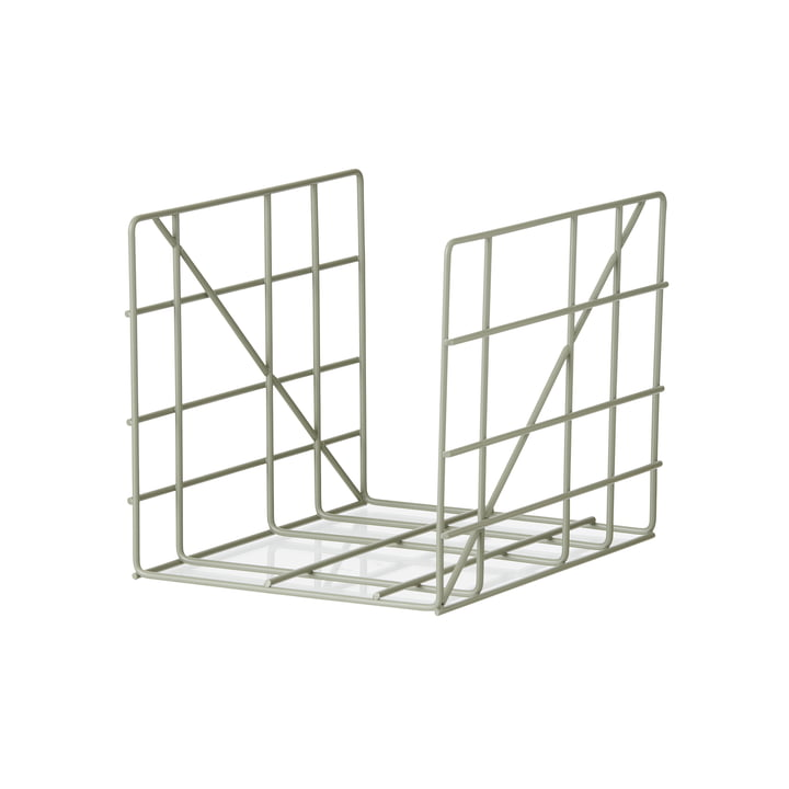 Square Magazine Holder by ferm Living in Dusty Green