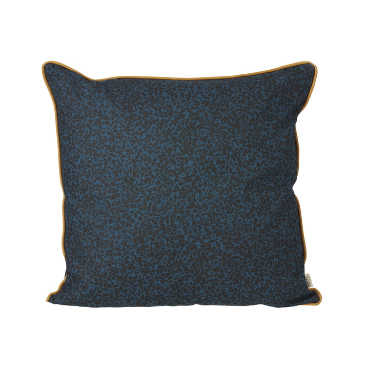Terrazzo Cushion 50 x 50 cm by ferm Living in Dark Blue
