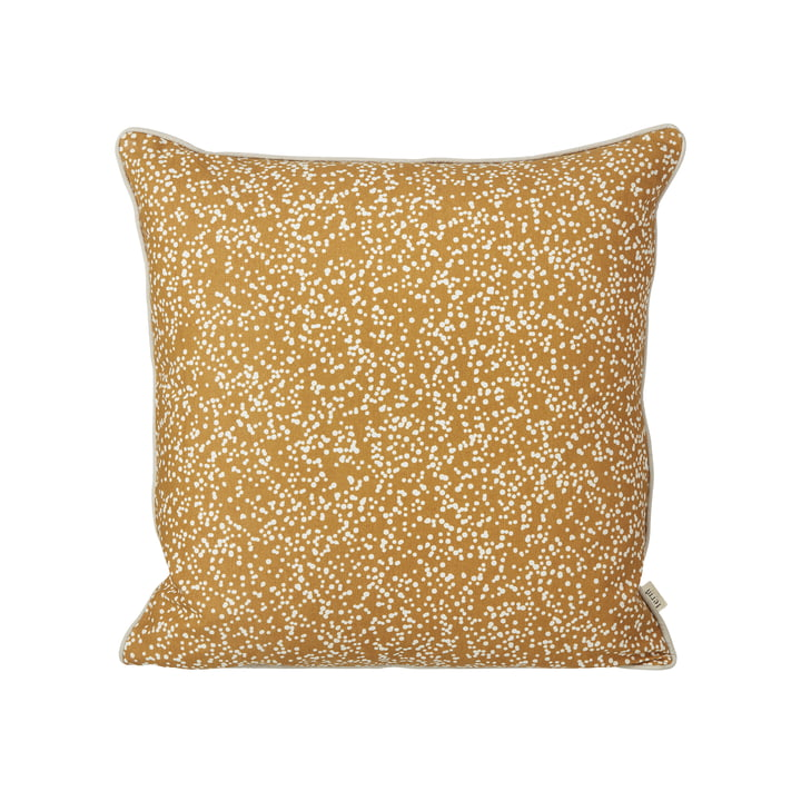 Dottery Cushion 50 x 50 cm by ferm Living in curry