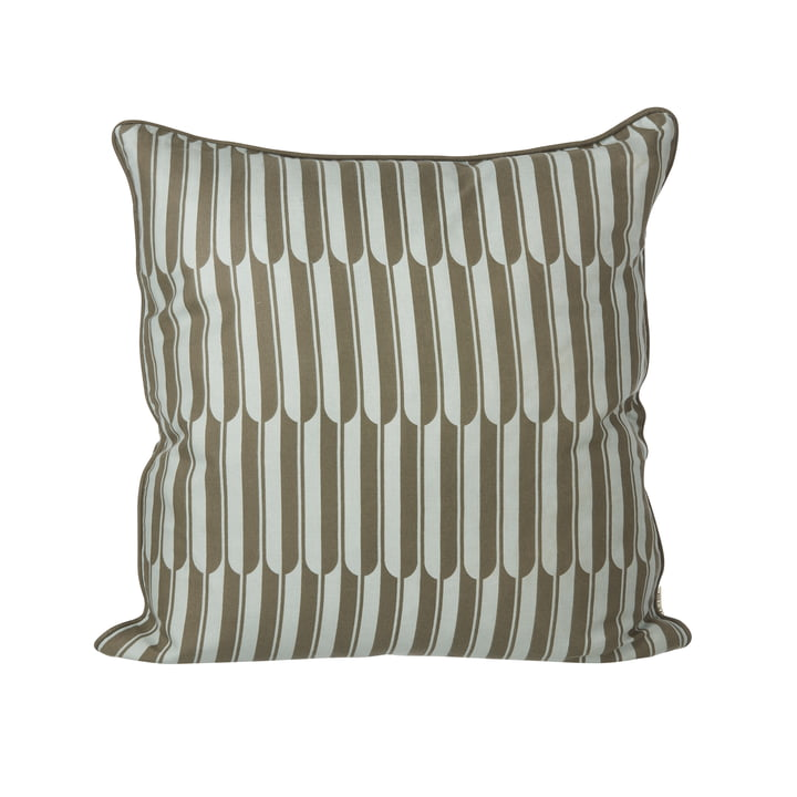 Arch cushion 50 x 50 cm by ferm Living in brown and blue