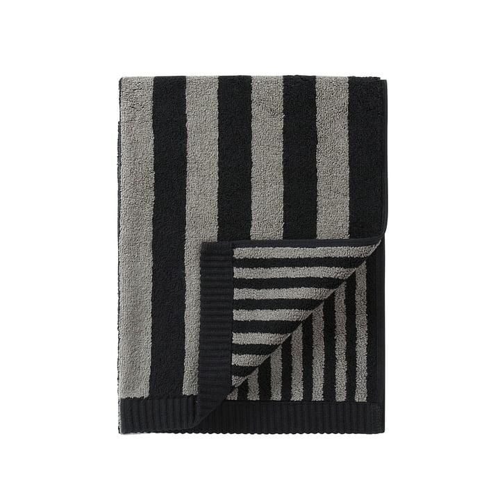 Marimekko - Kaksi Raitaa Towel 50 x 100 cm, grey / black