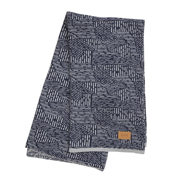 Maze Blanket by ferm Living in Blue