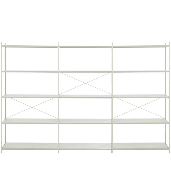 Punctual Shelving System 3x5 by ferm Living in Grey
