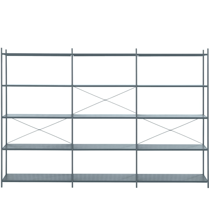 Punctual Shelving System 3x5 by ferm Living in Dark Blue
