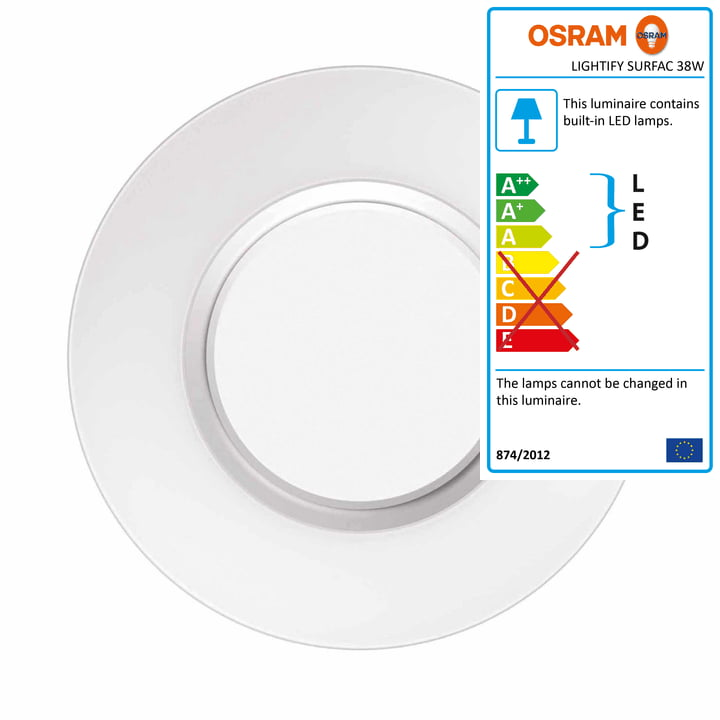 Lightify Surface Light Ceiling and Wall Lamp, 38 W by Osram