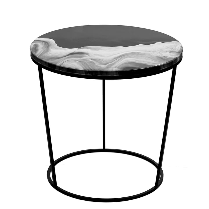 Pulpo - Fosco Side Table, large, black / black