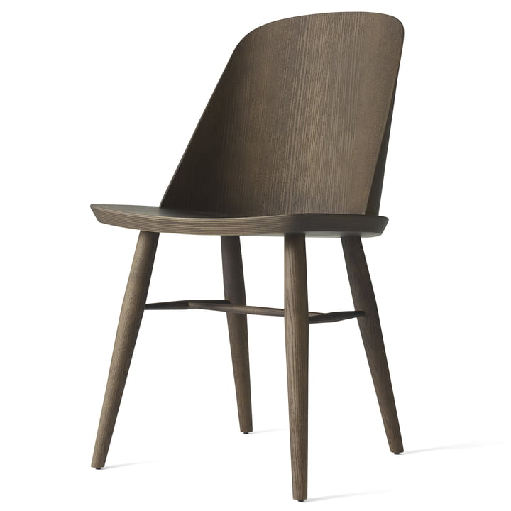 The Synnes dining chair by Menu in dark ash
