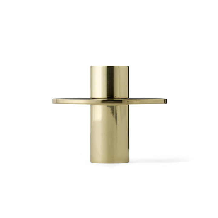 The Antipode Candle Holder 01 by Menu in polished brass