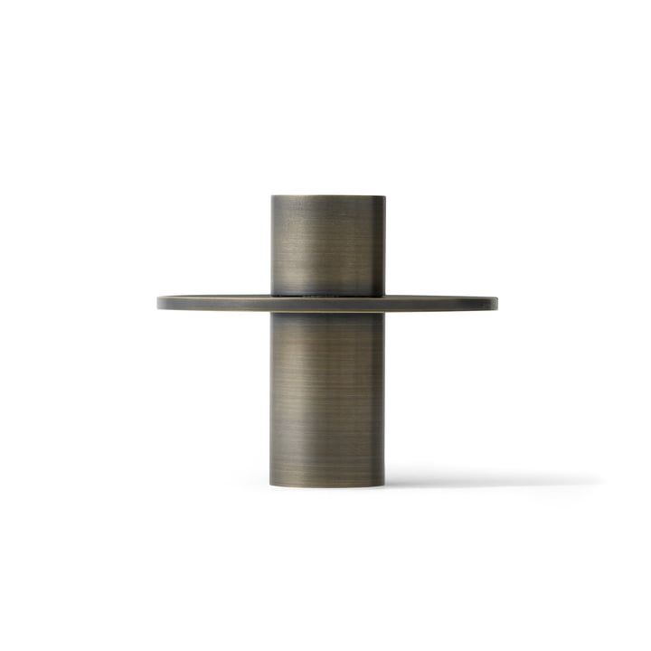 The Antipode Candle Holder 01 by Menu in browned brass