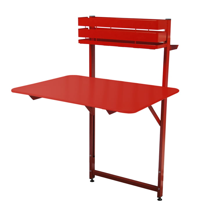 Bistro Balcony table by Fermob in poppy red