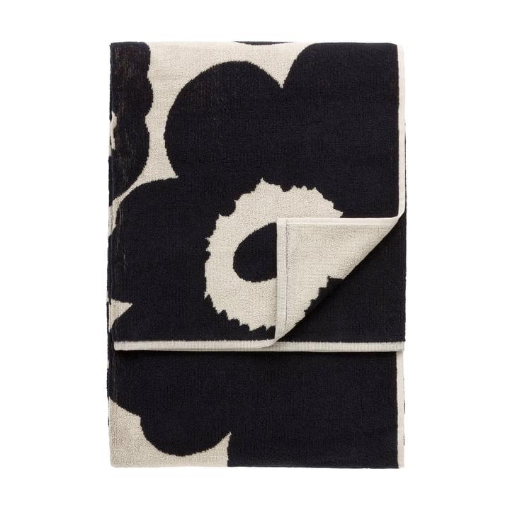 Marimekko - Unikko Beach Towel 100 x 180 cm, black / sand
