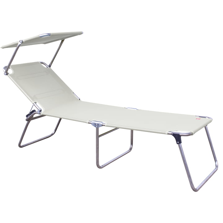 Fiam - Amigo Fourty-Sun Three-leg Lounger with Sunshade, white