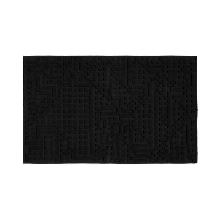 Route Bathroom Mat 50 x 80 cm by Zuzunaga in black