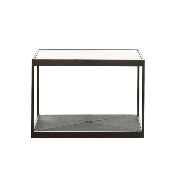 Monaco Coffee Table 50 x 50 cm by Röshults in black with black leather