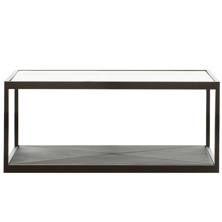 Monaco Coffee Table 115 x 115 cm by Röshults in black with black leather