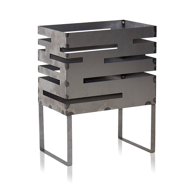 Urban Fire Basket 70 by Röshults made from untreated steel