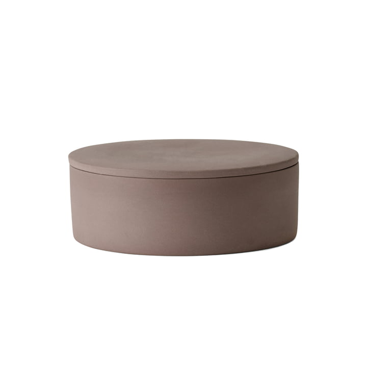The Cylindrical Container with Lid by Menu in taupe