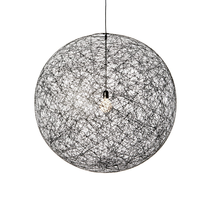 Random Light LED pendant light, medium, black by Moooi