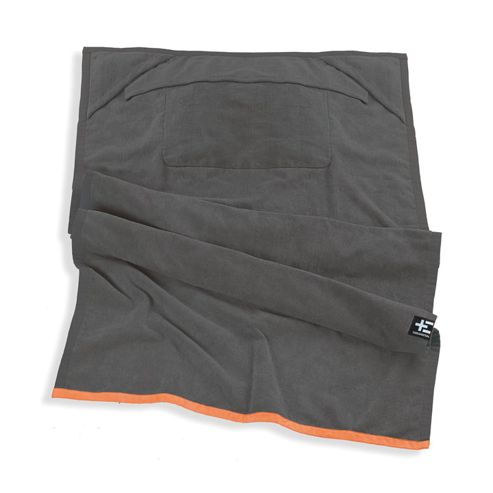 One Moe Beach Towel by Terra Nation in grey