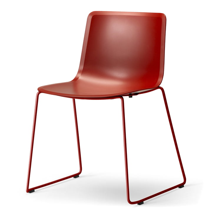 Pato Sledge Chair by Fredericia in Red