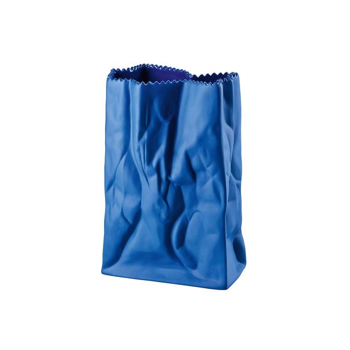 Rosenthal - Paper Bag Vase, 18cm, dark blue