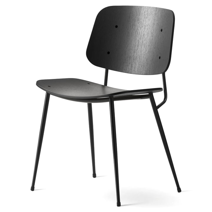 Søborg Chair by Fredericia made of black lacquered oak and steel