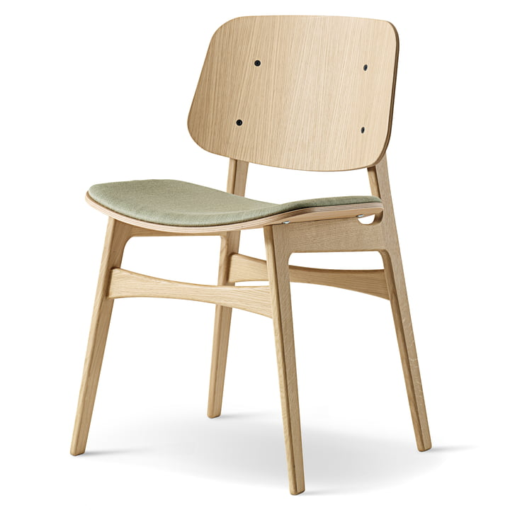 Søborg Chair by Fredericia in oak with upholstery