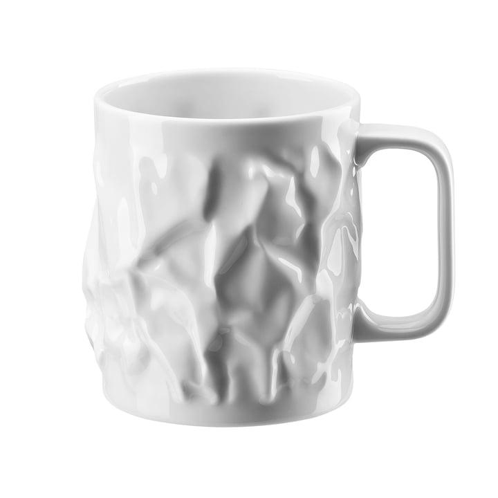 "The ""Bag vase"" mug with handle, large, 0.57 l by Rosenthal."