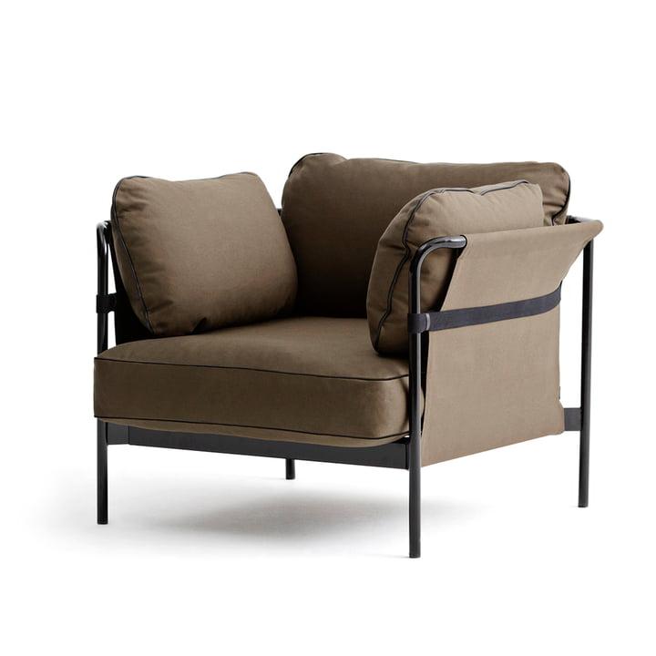 Hay - Can armchair, black / Canvas army / Canvas army