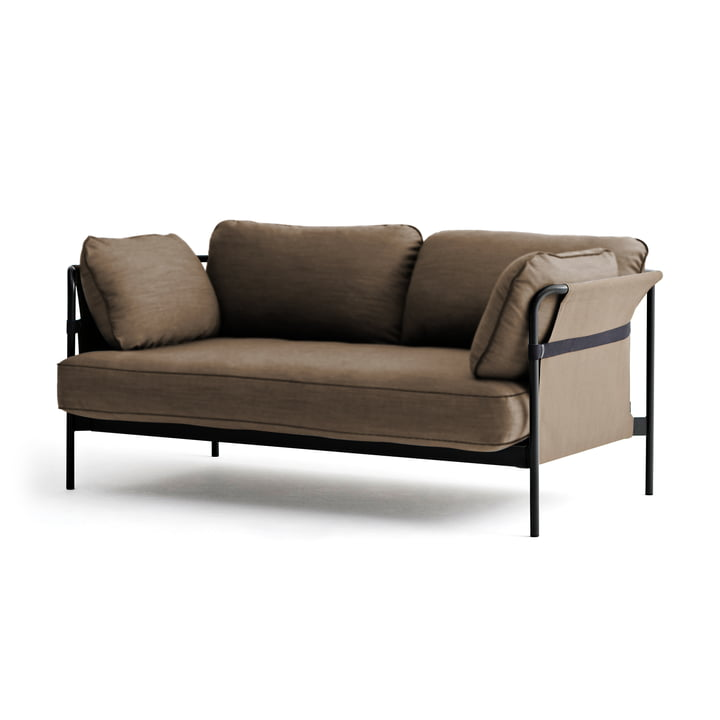 Hay - Can Sofa, 2-Seater, black / canvas army / canvas army