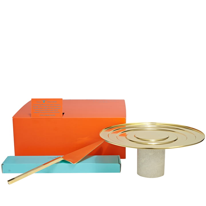 Form Cake Server with Cake Plate by Tom Dixon