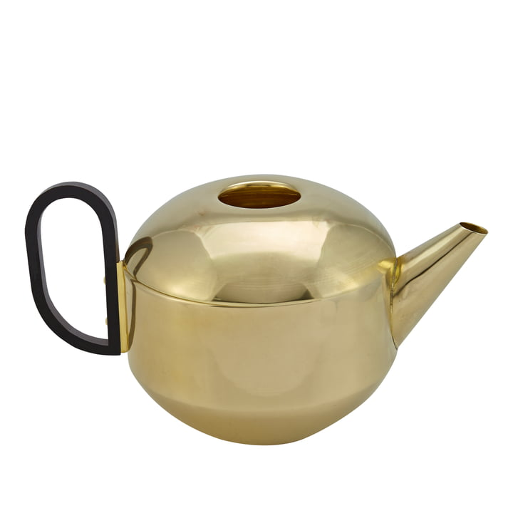 Form Teapot by Tom Dixon in brass