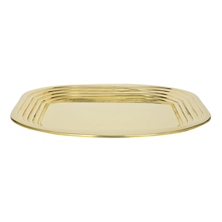 Form Tray by Tom Dixon made of brass
