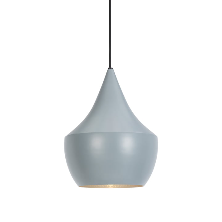 Beat Light Fat Pendant Lamp by Tom Dixon in gray