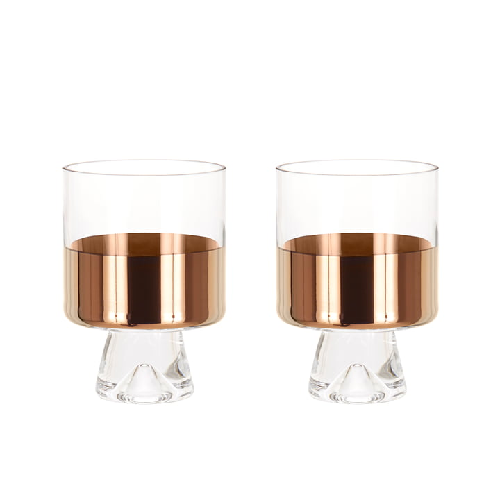Set of 2 Tank Low Ball Glass by Tom Dixon