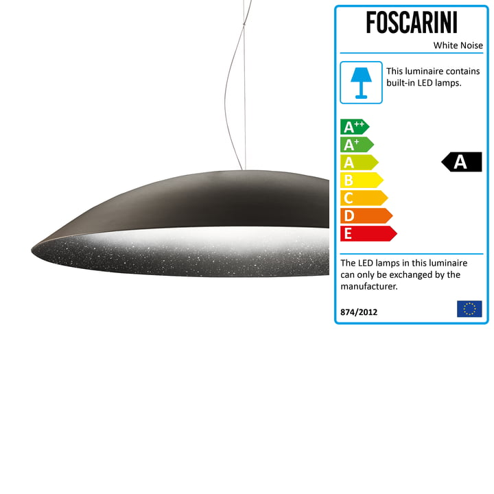 The White Noise Pendant Lamp in Black, 2 m by Diesel Living