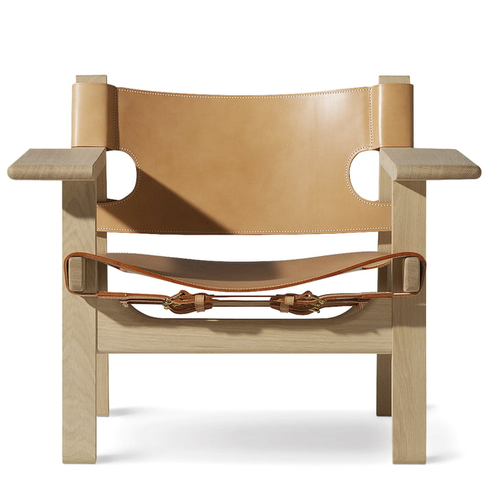 Spanish Chair by Fredericia in oak soaped and saddle leather nature