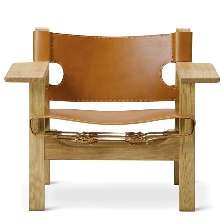 Spanish Chair by Fredericia in oak oiled / leather cognac