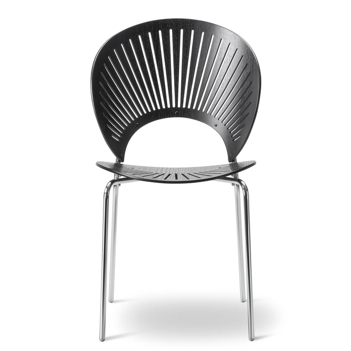 Trinidad Chair by Fredericia in Black/Chrome