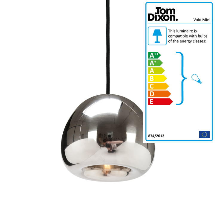 Mini Void Pendant Lamp by Tom Dixon made of stainless steel