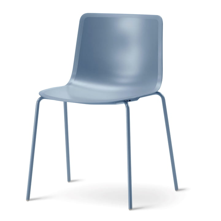 Pato 4 Leg Chair by Fredericia in the color storm