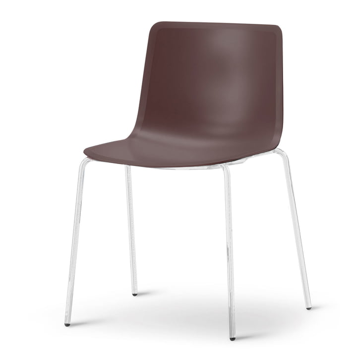 Pato 4 Leg Chair by Fredericia in mountain / chrome
