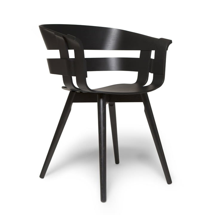 The Wick Chair Wood in black by Design House Stockholm