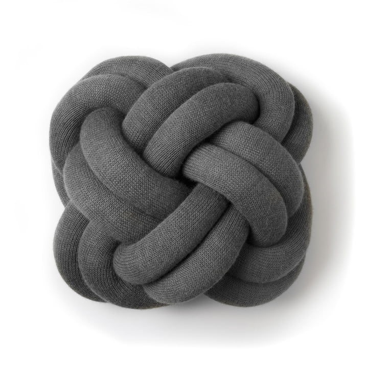 The Knot Cushion in grey by Design House Stockholm
