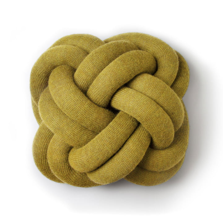 The Knot cushion in yellow by Design House Stockholm