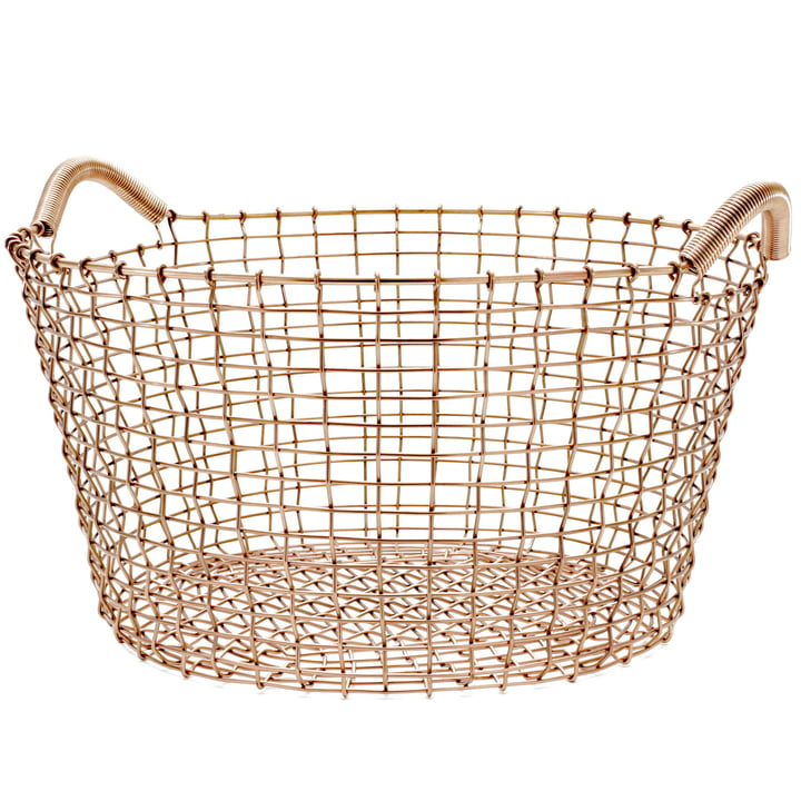 Classic 35 Wire Basket from Korbo made of Copper