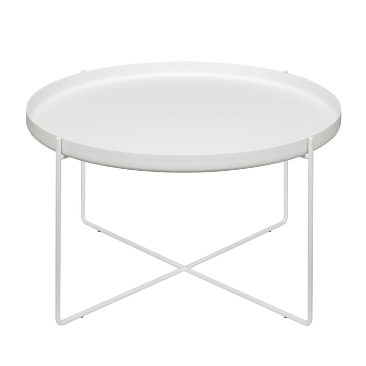 The CM05 Habibi Side Table H 30 cm Ø 57cm in signal white