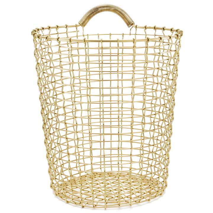 Bin 18 Wire Basket by Korbo made of Brass