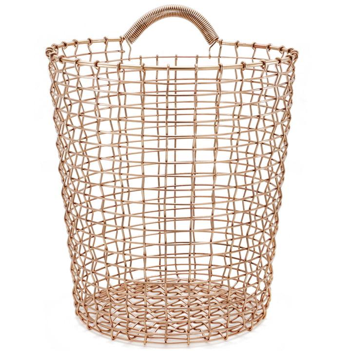 Bin 18 Wire Basket by Korbo made of Copper